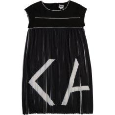 KARL LAGERFELD kids Dievčenské šaty čierno biele KARL LAGERFELD-Karl Lagerfeld Kids