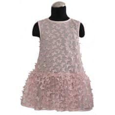 DAGA kidswear Dievčenské šaty ružové s motýľmi DAGA-Daga collection
