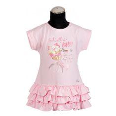 DAGA kidswear Dievčenská šaty s volánikmi ružové DAGA-Daga collection