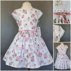 DAGA kidswear Dievčenské šaty letné s riasenou sukňou DAGA-Daga collection