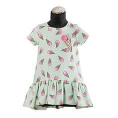 DAGA kidswear Dievčenské šaty mätové zmrzlinky DAGA -Daga collection