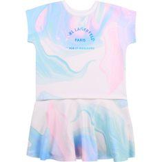 KARL LAGERFELD kids Dievčenské šaty farebné s logom KARL LAGERFELD-Karl Lagerfeld Kids