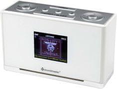 Soundmaster UR240WE, radiobudík s DAB+, bílá/stříbrná
