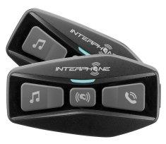 Interphone Bluetooth headset pro uzavřené a otevřené přilby U-COM2, Twin Pack