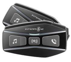 Interphone Bluetooth headset pro uzavřené a otevřené přilby U-COM16, Twin Pack