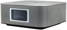 Soundmaster UR411SI, radiobudík s Qi a BT, stříbrná