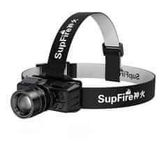 SupFire HL50 LED akkumulátoros fejlámpa, fekete