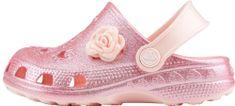 Coqui klapki dziewczęce Little Frog Candy Pink Glitter + Amulet