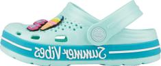 Coqui dievčenské papuče Lindo Lt. mint/Turquoise summer + amulet