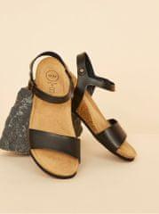 OJJU černé dámské kožené sandály