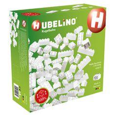 Hubelino Kuličková dráha - kostky bílé 120 ks