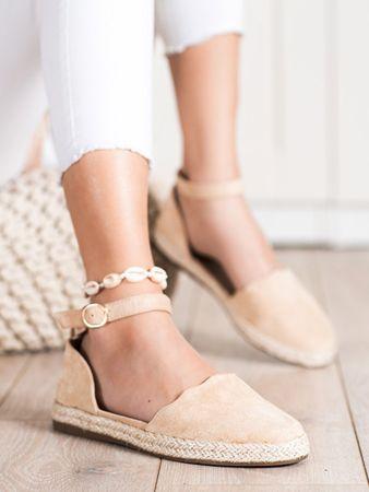 Női félcipő 70986, bézs és barna árnyalat, 41