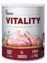 Akinu karma mokra dla psów VITALITY 3/4 kurczaka 6x 800 g