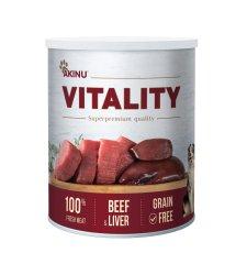 Akinu VITALITY konzerve za pse, govedina z jetri, 6 x 800 g