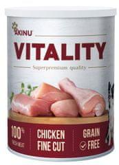 Akinu karma mokra dla psów VITALITY drobno krojony kurczak 8x 400g