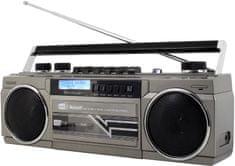 Soundmaster SRR70TI, přenosný kazetový přehrávač strieborná