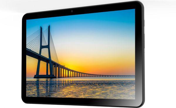 Tablet iGet SMART L203 štíhlý, kompaktní rozměry, velký displej dlouhá výdrž baterie Android 10 IPS displej zadní i přední fotoaparát Bluetooth 4.2 Wifi OTG nejnovější LTE 4G 3G rychlý internet GPS polohový senzor vysoké rozlišení displeje cestovní tablet videohovory velká kapacita baterie velké úložiště sledování filmů hraní her výkonný procesor dotykové pero iPEN