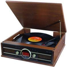 Soundmaster PL585BR, gramorádio s DAB+, USB, hnědá