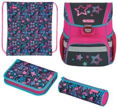 Herlitz šolski ruksak Loop Plus Zvijezda, opremljen