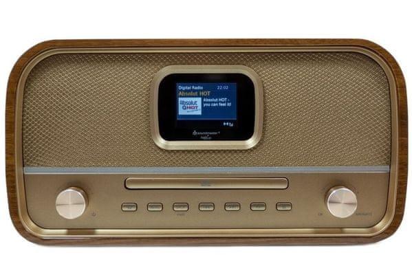moderní mikrosystém DAB970SW displej budík sleep rms výkon 30 w elektrické napájení usb port aux in retro design