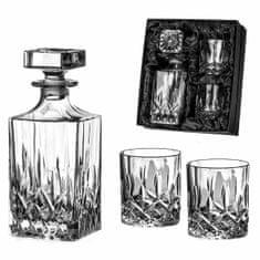 Diamante Dorchester trojdielny whisky set - 2x poháre, 1x fľaša