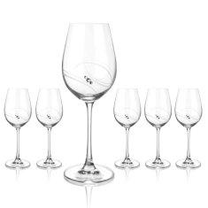 Diamante Atlantis poháre na biele a ružové víno - darčekové balenie 6 pohárov