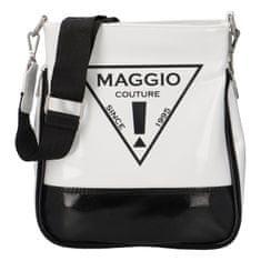 Maggio Trendy dámská koženková crossbody kabelka Julia, černá-bílá