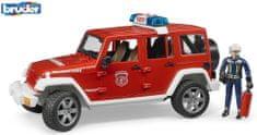 BRUDER 2528 wóz strażacki Jeep Wrangler ze strażakiem