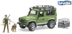 BRUDER 2587 samochód Land Rover z myśliwym i psem