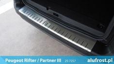 Alufrost Ochranná lišta hrany kufru Peugeot Rifter 2018-