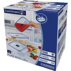 Luminarc Sada skleněných nádob na potraviny Pure Box 3 ks, obdelníková