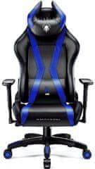 Diablo Chairs X-Horn 2.0, černá/modrá (5902560337013)