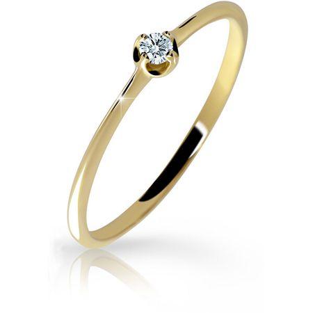 Cutie Diamonds Gyengéd sárga arany gyűrű gyémánttal DZ6729-2931-00-X-1 (Kerület 49 mm) sárga arany 585/1000