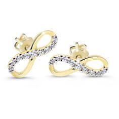 Cutie Diamonds Elegantné náušnice zo žltého zlata s briliantmi v tvare nekonečna DZ60149-30-00-X-1