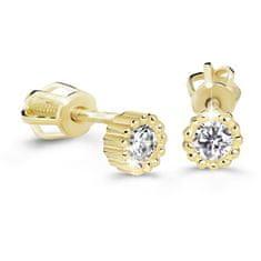 Cutie Diamonds Minimalistické náušnice kôstky zo žltého zlata s briliantmi DZ60236-30-00-X-1