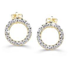 Cutie Diamonds Luxusné náušnice zo žltého zlata s briliantmi DZ60240-30-00-X-1