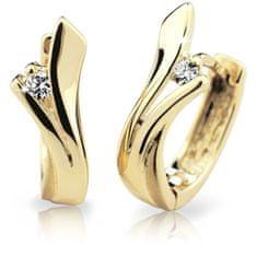 Cutie Diamonds Luxusné kruhové náušnice zo žltého zlata s briliantmi DZ6434-1795-80-00-X-1