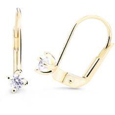 Cutie Diamonds Nežné visiace náušnice zo žltého zlata s briliantmi DZ8014-55-00-X-1