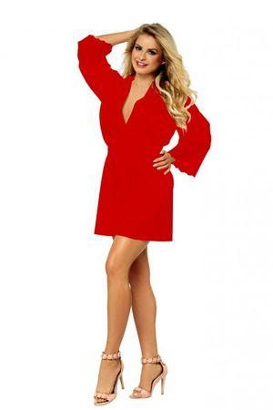 DKaren Nöi fürdőköpeny Judyta red + Nőin zokni Gatta Calzino Strech, piros, XXL
