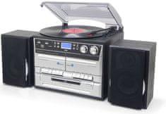 Soundmaster MCD5550SW, retro Hi-Fi systém s DAB+ čierna/strieborná
