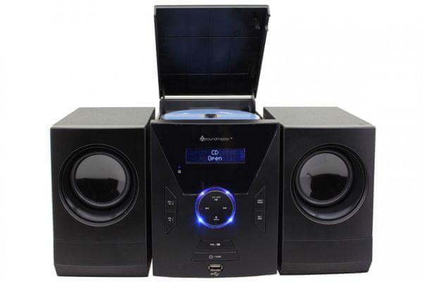 moderní mikrosystém mcd400 soundmaster aux in usb port cd mechanika super zvuk fm dab plus tuner pěkný design