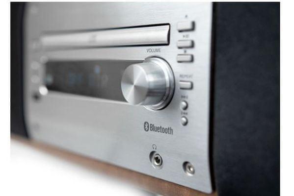 moderní mikrosystém soundmaster dab1000 fm dab tuner bluetooth nfc funkce optický vstup velký výkon usb port aux in cd mechanika