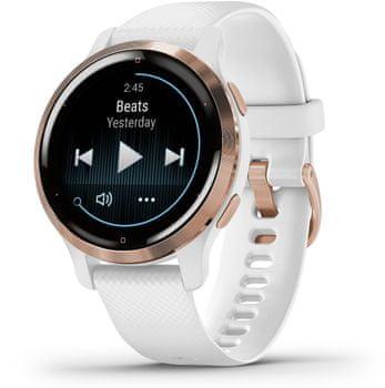 Inteligentné hodinky Garmin VENU 2S, AMOLED displej, smart watch, pokročilé, zdravotné funkcie, tep, dych, menštruačný cyklus, pitný režim, metabolizmus, kalórie, vzdialenosti, kroky, aktivita, odpočinok, spánok dlhá výdrž batérie 10 dní vodotesné 5 ATM animované cvičenia hudobný prehrávač 650 skladieb Garmin Pay bezkontaktné platby Gorilla Glass 3 športové aplikácie silové tréningy detailná analýza spánku bezkontaktné platenie, platby, hudobný prehrávač, Spotify, Deezer, detekcia nehody, notifikácia z telefónu