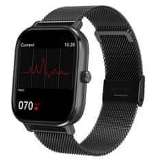 NEOGO DayFit D3, smart hodinky, čierne/kovové
