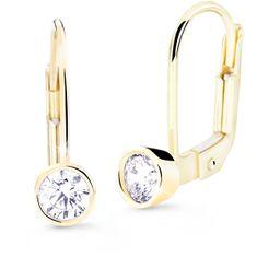 Cutie Diamonds Pôvabné visiace náušnice zo žltého zlata s briliantmi DZ8017-55-00-X-1