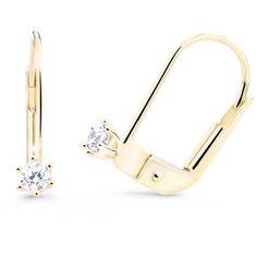 Cutie Diamonds Minimalistické náušnice zo žltého zlata s briliantmi DZ8020-55-00-X-1