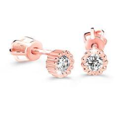 Cutie Diamonds Minimalistické náušnice kôstky z ružového zlata s briliantmi DZ60236-30-00-X-4