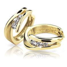 Cutie Diamonds Pôvabné kruhové náušnice zo žltého zlata s briliantmi DZ6433-1794-80-00-X-1