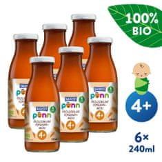 Salvest Põnn BIO Mrkvová šťava s dužinou 6x (240 ml)
