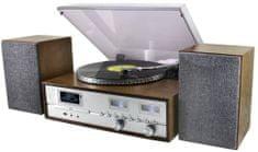 Soundmaster PL880, retro Hi-Fi systém, stříbrná/hnědá